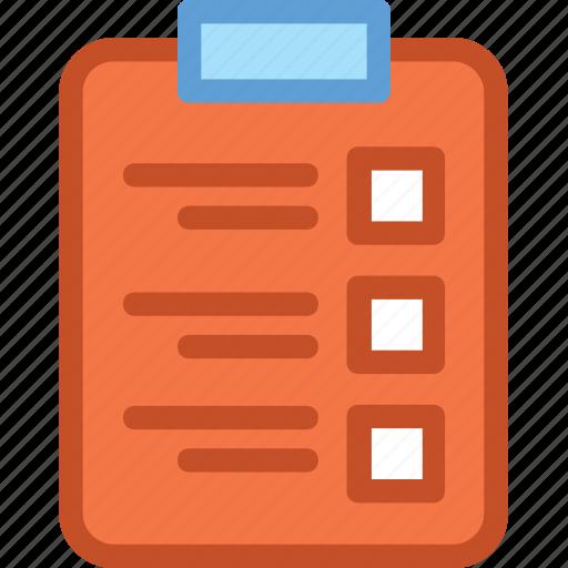 agenda, clipboard, list, memo, task icon