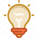 bulb, electricity, incandescent, light bulb, luminaire icon