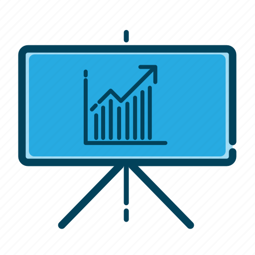 analytics, business, chalkboard, charts, graph presentation, presentation, statistics icon