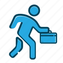 business, business man, businessman, job, job walkin, office, work icon