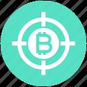 bitcoin, block chain, bulls-eye, coin, cryptocurrency, money, target