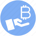 bitcoin, blockchain, coin, cryptocurrency, digital money, hand, money