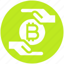 bitcoin, cryptocurrency, currency, hand, money, payment, safe