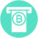 atm machine, bank, bitcoin atm, bitcoin transaction, cryptocurrency transaction, internet machine, withdrawal icon