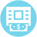 atm, atm machine, cash, dollar, machine, money, withdrawal icon