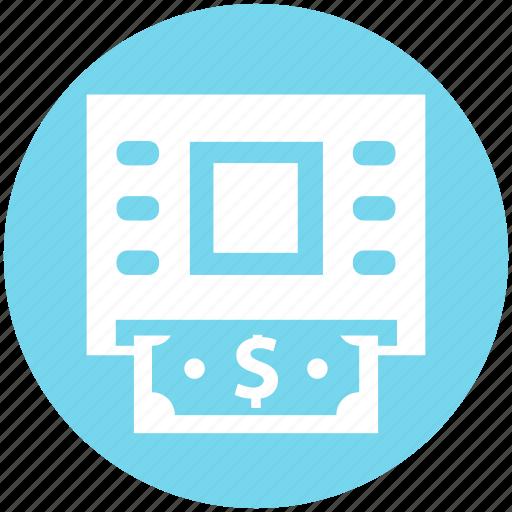 Atm, atm machine, cash, dollar, machine, money, withdrawal icon - Download on Iconfinder