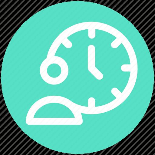 clock, life time, man, time, time optimization, user icon