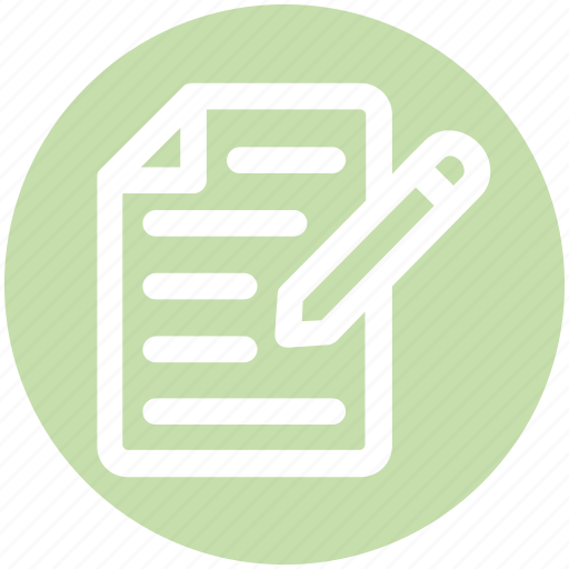 banking, contract, document, iles, paper, pencil, sheet icon