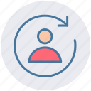 avatar, circle, loading, processing, recycling, synching, user icon