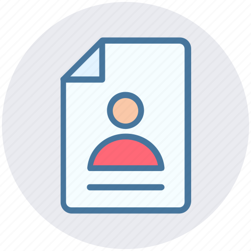 document, file, man, page, paper, sheet, user icon