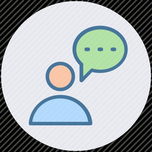 chat, communication, conversion, man, message, talk icon