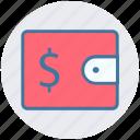 cash, coins, euro, money, money wallet, wallet icon