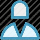 avatar, book keeper, female, girl, profile, staff, user
