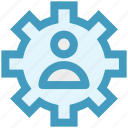 cog, gear, network, online, user, work