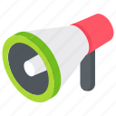 announcement, communication, loudspeaker, megaphone, promotion icon