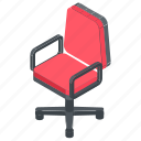 office chair, revolving chair, spinny, swivel, swivel chair icon