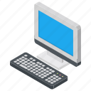 computer, desktop computer, home computer, pc, workplace icon