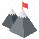 mission accomplished, mission achievement, mountain flag, successful mission, victory icon