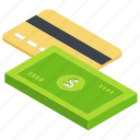 bank deposit, banking, credit card, finance, payment icon