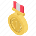 champion medal, first place, first rank, medal, winner