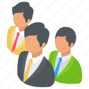 business professionals, company employees, management, team, workers icon