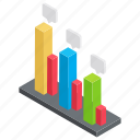 business infographics, data analysis, descriptive statistics, inferential statistics, statistical graphics icon