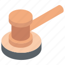 court, gavel, justice, law, order, rule icon
