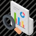 data analysis, data analytics, data engineering, data science, market search icon
