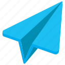 origami plane, paper aircraft, paper airplane, paper plane, throwing plane icon