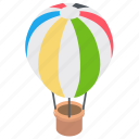 hot air balloon, air flight, adventure, exploration, freedom icon