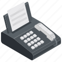 billing machine, fax machine, invoice, printer, receipt icon