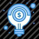 bulb, idea, light, money, solution