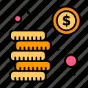 cash, coins, investment, money