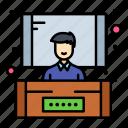 conference, presentation, seminar icon