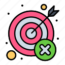 fail, miss, mistake, target, wrong icon
