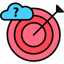 cloud, target, computing, aim, goal, atack icon