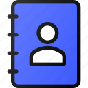 contact, info, user, notebook, address, book icon