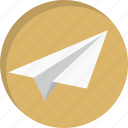 communication, email, letter, mail, message, paper plane, send icon