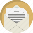 communication, envelope, letter, mail, message, post, send icon