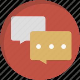 bubbles, chat, communication, conversation, message, messages, talk icon