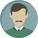 avatar, human, man, office, person, profile, user icon