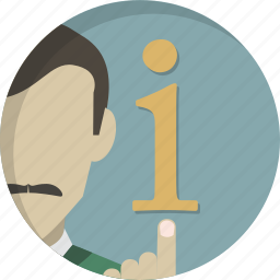 advice, help, info, information, man, office, support icon
