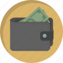 cash, dollars, finance, money, paying, payment, wallet icon