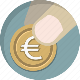 cent, coin, euro, finance, money, paying, payment icon