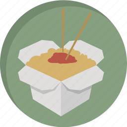 asian food, asian restaurant, chopsticks, food, lunch, noodles, take away icon