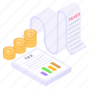 tax file, tax report, tax, financial report, business report icon