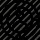 aim, crosshair, focus, man target, target icon