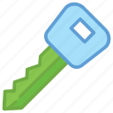 access, door key, key, lock key, security icon