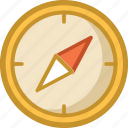 cardinal points, compass, directional tool, gps, navigational compass icon