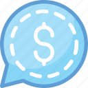 business chat, chat bubble, dollar, live chat, online business icon
